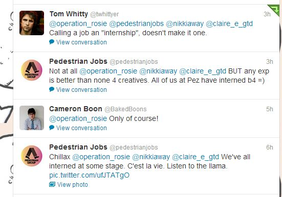 Pedestrian Jobs tweet